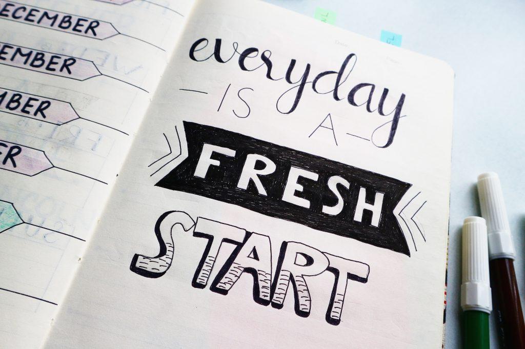 fresh start planner