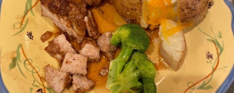 Easy Red Wine Balsamic Pork Chops