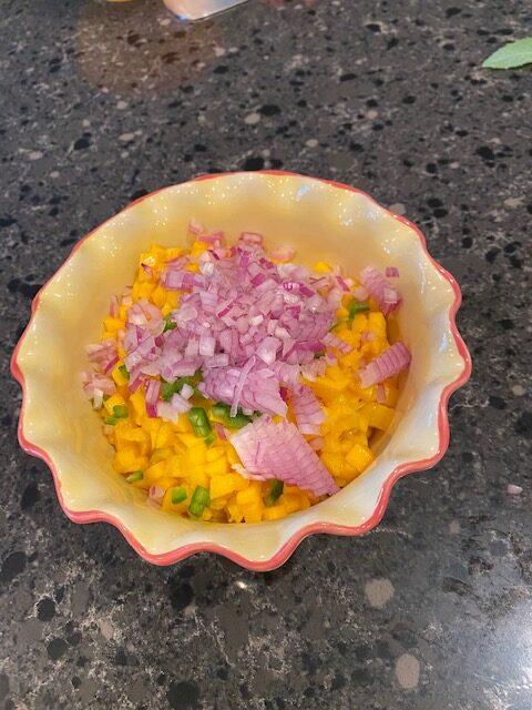 mango jalapeno and onion